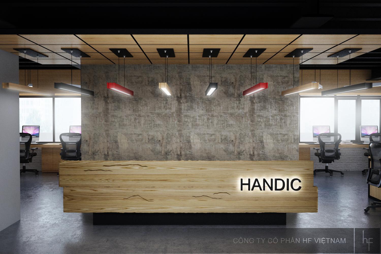 Thiết kế nội thất Văn phòng làm việc Công ty Handic